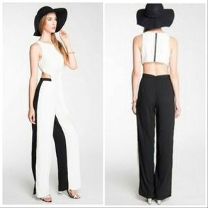 NWT Mustard Seed Black/White Colorblock Jumpsuit M